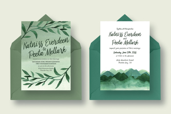 Wild Greenery Wedding Collection