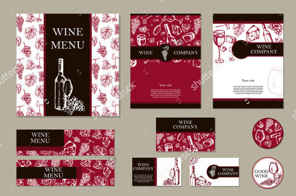 Wine Company Brochure Template