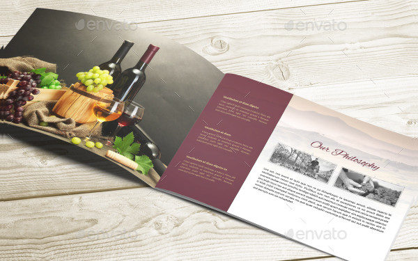 Attractive Wine InDesign Brochure Template