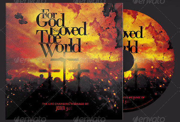 God So Loved The World CD Artwork Template