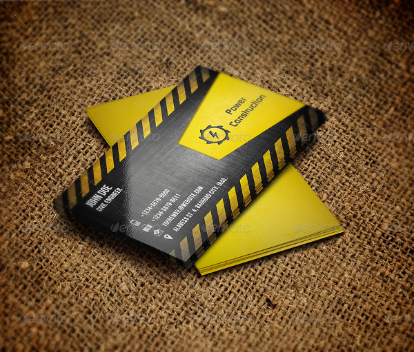 25+ Construction Business Card Templates - Free & Premium ...