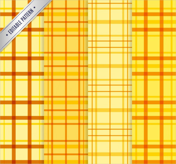 Yellow Tartan Patterns Free