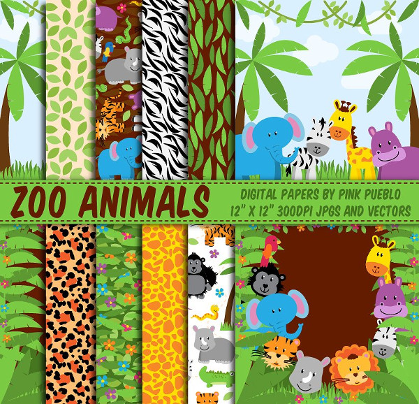 Zoo Animals Patterns