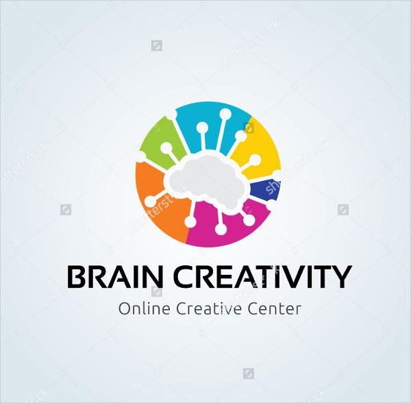 Brain Creativity Logo Template