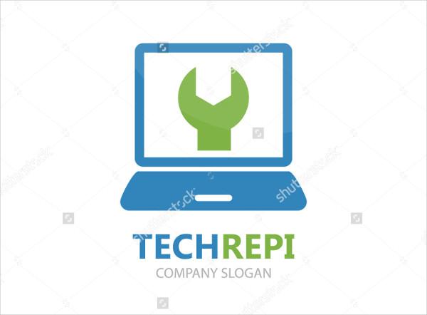 Vector Computer and Laptop Repair Logo