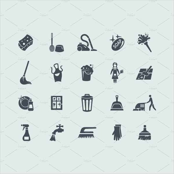 20 Cleaning Icons Vector Design