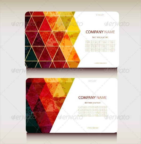 Set of Abstract Geometric Business Card Templates