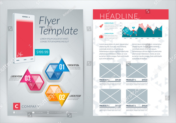 Abstract Mobile App Flyer Template