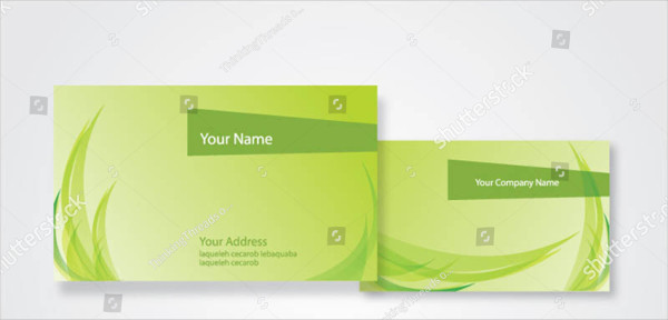 Abstract Nature Style Business Card