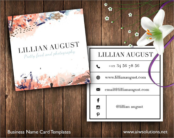 Abstract Square Art Business Card Template