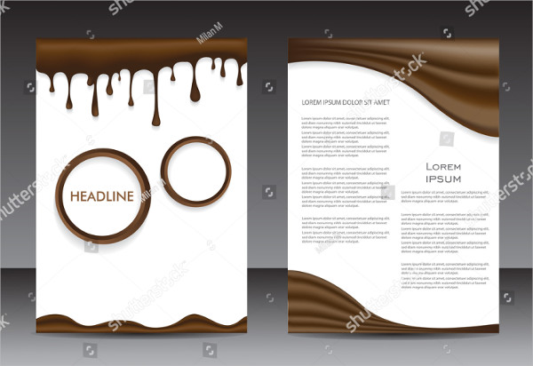 Abstract Brochure Design with Chocolate Splash