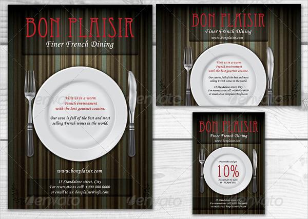 Ready to Print Food Magazine Advertising Templates