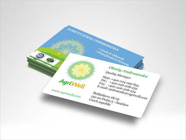 Agri Well Business Card Template