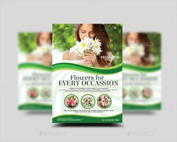 Flower Shop Marketing Flyer Template
