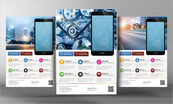 Alternative Mobile Apps Flyer Template