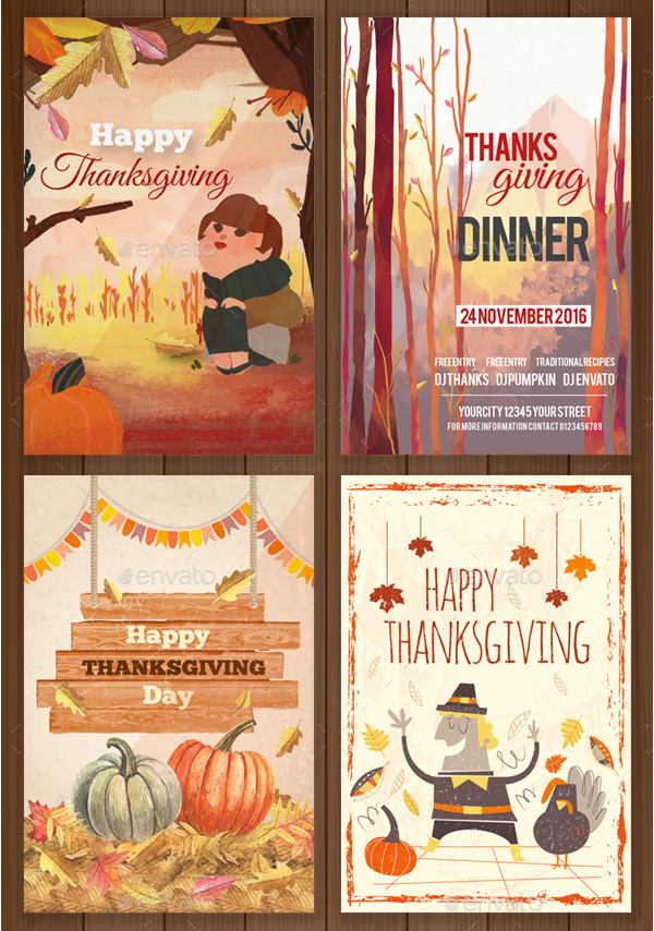 4 Attractive Thanksgiving Cards