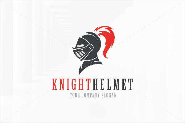 Fully Editable Knight Helmet Logo Template