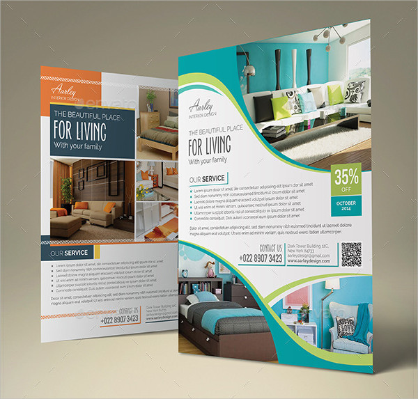 Attractive Interior Design Promotion Flyer