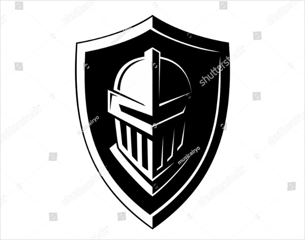 Knight Armor Logo Vector
