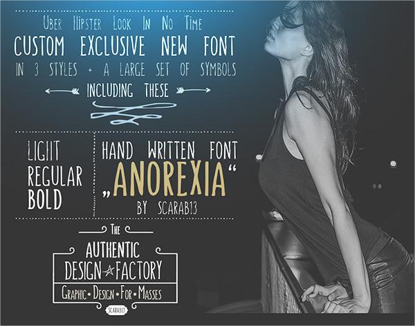Anorexia Handwritten Font