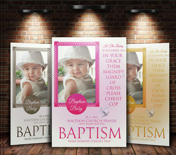 Best Baby Baptism Flyer Templates