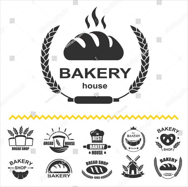 Bakery Logos with Fresh Bread