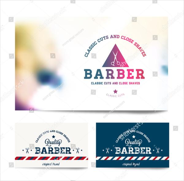 Decorative Barber Shop Business Card