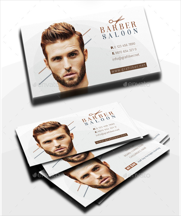 Barber Saloon Business Card Templates