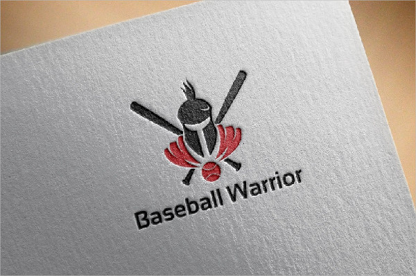 Baseball Warrior Knight Logo