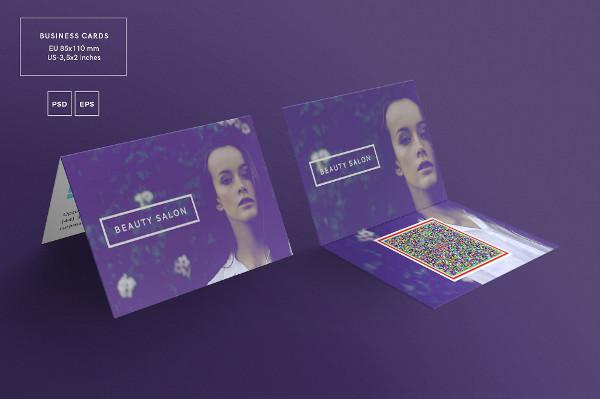 Beauty Salon Folded Business Card