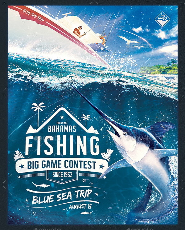 Big Fishing Game Flyer Template