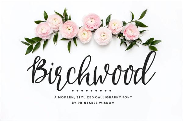 Birchwood Calligraphy Fonts