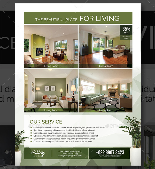 Clean Interior Design Business Flyer