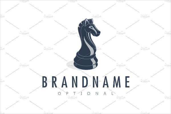 Black Knight Chess Logo Template