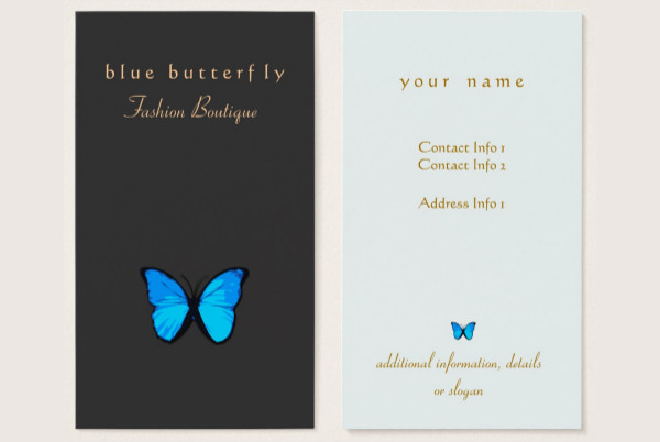 Blue Butterfly Nature Business Cards