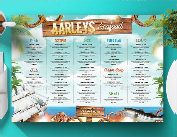 Modern Seafood Restaurant Menu Template