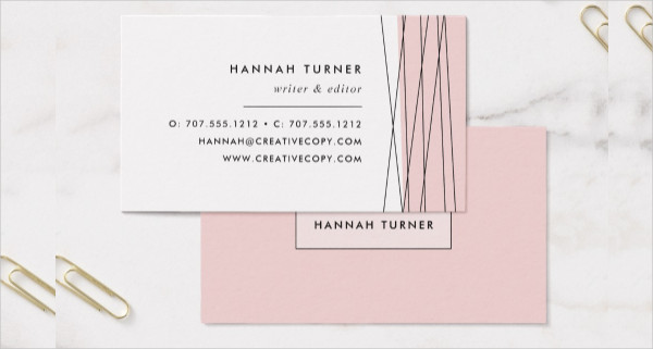 Blush & Black Geometry Business Card