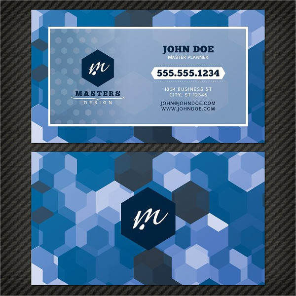 Bold Geometric Business Card Template