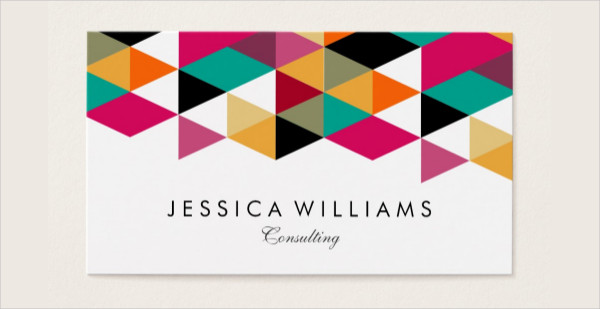 Modern Geometric Design Business Card