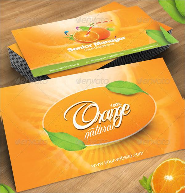 Business Card in Orange Natural