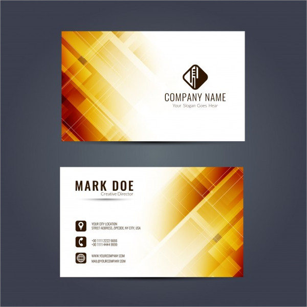 Business Card With Yellow Geometric Shapes Free