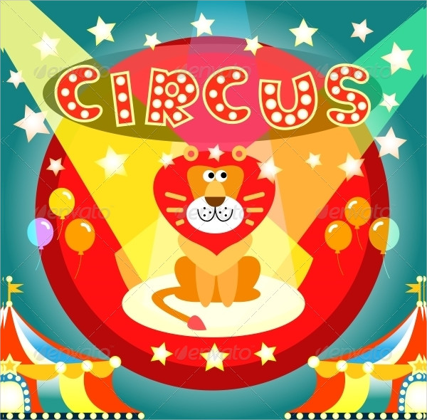 Cartoon Circus Poster Template