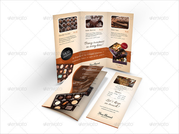 Classic Chocolate Shop Trifold Brochure