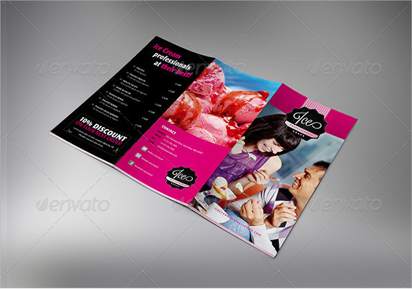 Ice Cream or Chocolate Trifold Brochure