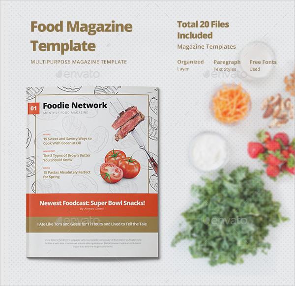 Clean Food Photoshop Magazine Design