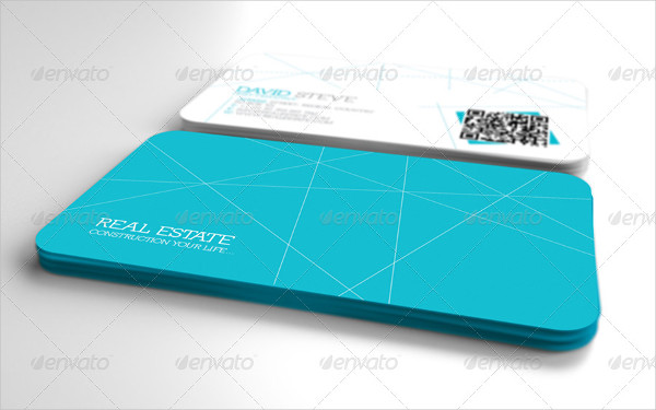Real Estate Business Card in Geometric Style