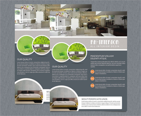 Printable Interior Design Flyers