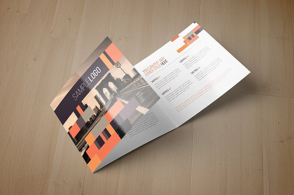 Minimal Square Geometric Brochure Template