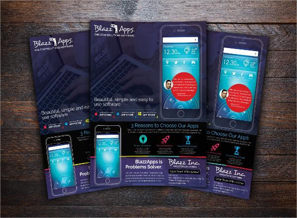 Clean Mobile Apps Promotion Flyer