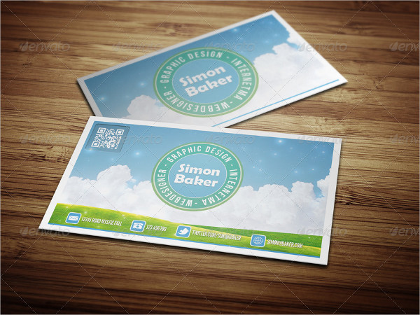 Cloud Nature Business Card